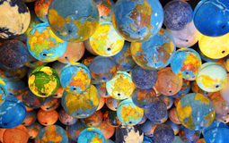 Worlds and moons. A mass of world and moon globes for background Royalty Free Stock Photography