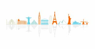 Worlds most famous landmarks Royalty Free Stock Photography