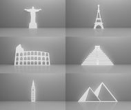 Worlds most famous landmarks Stock Photos