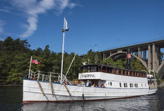 Worlds oldest passengership in traffic: M/S Enkoping Stock Photos