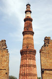 The worlds tallest brick tower at Qutb Minar India Royalty Free Stock Image