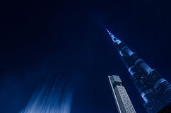 Worlds tallest tower downtown dubai Royalty Free Stock Photo