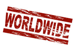 Worldwide. Stylized red stamp showing the term worldwide. All on white background Stock Photography