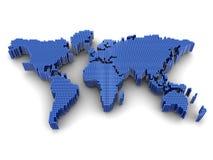 Worldwide. Digital worldwide map, geography subject Stock Photos