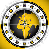 Worldwide background. Worldwide background with business icons Royalty Free Stock Images