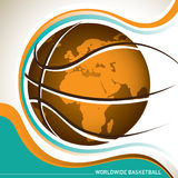 Worldwide basketball banner. Stock Image