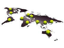 Worldwide branch. 3d image, worldwide branch, business concept Stock Photography