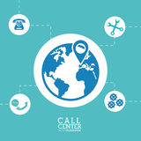 Worldwide call center location support Stock Photo