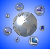 Worldwide communication stock illustration