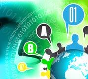 Worldwide communication and social media concept art. Stock Photos