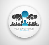 Worldwide communication and social media concept art royalty free illustration