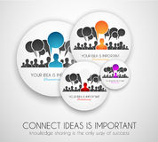 Worldwide communication and social media concept art Royalty Free Stock Image