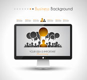 Worldwide communication and social media concept art Royalty Free Stock Photos