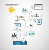 Worldwide communication and social media concept stock illustration