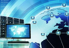 Worldwide computer network Royalty Free Stock Photography
