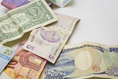 Worldwide currency Stock Photos