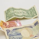 Worldwide currency Royalty Free Stock Images
