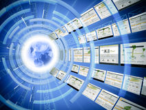 Worldwide data transfer. Concept of internet being used worldwide royalty free stock images