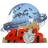 Worldwide delivery in 48 Hrs Royalty Free Stock Photography