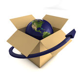 Worldwide Delivery Concept Stock Image
