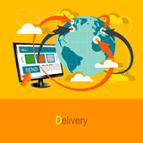 Worldwide Delivery Concept Royalty Free Stock Image