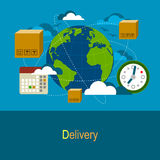 Worldwide Delivery Concept Stock Images