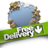 Worldwide free delivery Royalty Free Stock Images