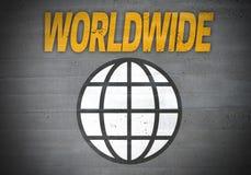 Worldwide globe icon concept background Royalty Free Stock Photos