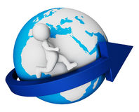 Worldwide Globe Means Render Globally And Globalisation 3d Rendering Stock Images
