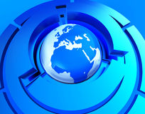 Worldwide Globe Represents Web Site And Earth Stock Photography