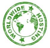 Worldwide Hosting Indicates Worldly Server And Web Royalty Free Stock Photo