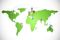 Worldwide Human Networking Royalty Free Stock Image