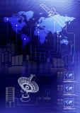 Worldwide Information. Schematic Illustration of Worldwide Global Information Royalty Free Stock Photos