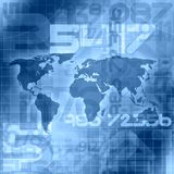 Worldwide Information Concept. Blue Worldwide Global Information Concept Royalty Free Stock Photos