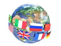 Worldwide international communication concept Stock Images