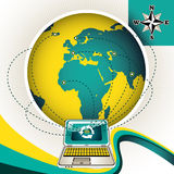 Worldwide internet connection. Worldwide internet connection designed banner Stock Images
