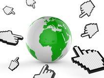 Worldwide Internet Indicates Web Site And Analyse Stock Photo