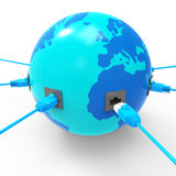 Worldwide Internet Represents Web Site And Connection Royalty Free Stock Images