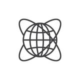 Worldwide line icon, outline vector sign Stock Photo
