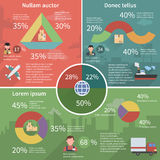 Worldwide logistic infographic flat poster Royalty Free Stock Images