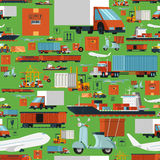 Worldwide logistic seamless pattern stock illustration