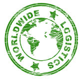 Worldwide Logistics Indicates Organize Plans And Globalise. Worldwide Logistics Representing Coordinating Globalization And Planet Royalty Free Stock Photo