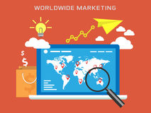 Worldwide Marketing Royalty Free Stock Images