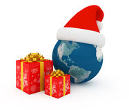 Worldwide Merry Christmas celebration Stock Images