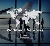 Worldwide Networks Global International Unity Concept Royalty Free Stock Photos