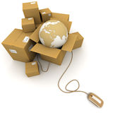 Worldwide online logistics Royalty Free Stock Photos