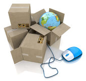 Worldwide online logistics Royalty Free Stock Image