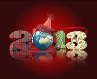 Worldwide party in new year eve. New year 2013 global party. 3d render very nice, elegant illustration stock illustration