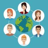 Worldwide people communication social media Stock Images