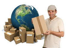 Worldwide personal delivery Stock Images